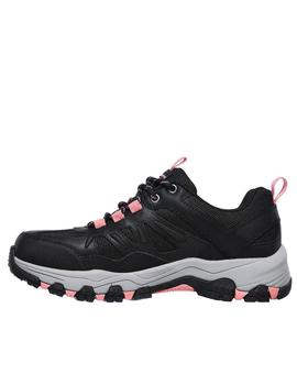 Skechers 167003 waterproof negro y rosa