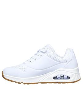 Deportiva Skechers Uno stand color blanco