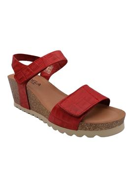 Sandalia Candela Bio Collection roja con velcros
